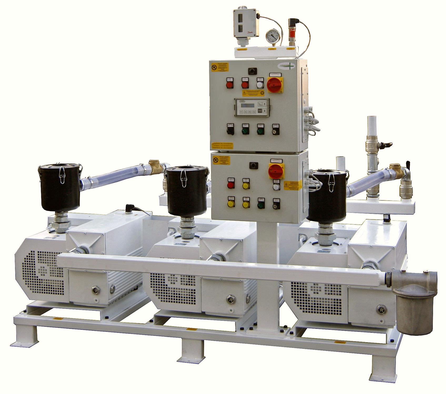 Medical vacuum system / rotary vane / lubricated 3×5,5 kW, 10 mbar | 3 x 220PBO-M