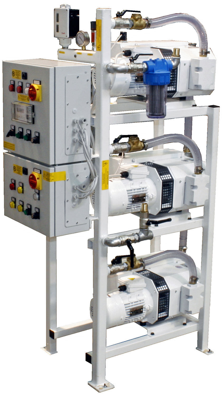 Medical vacuum system / rotary vane / lubricated 3×1,5 kW – 3×2,2 kW, 10 mbar | 3 x 60PBO-M