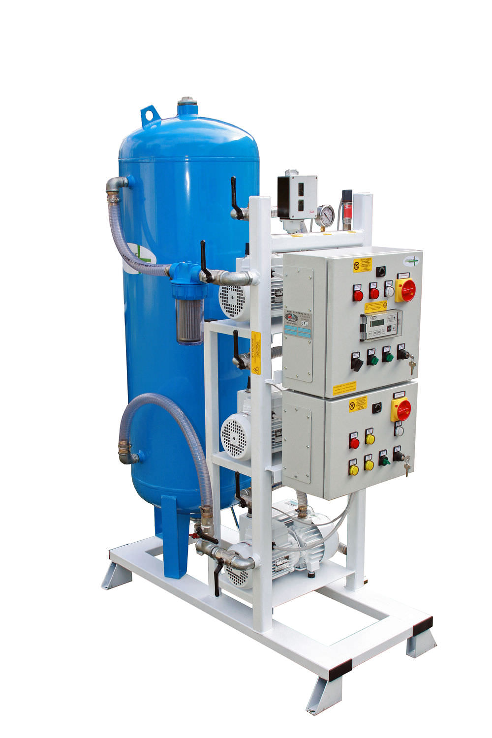 Medical vacuum system / rotary vane / lubricated 3×0,25 kW – 3×0,37 kW, 10 mbar | 3 x 12PBO-M