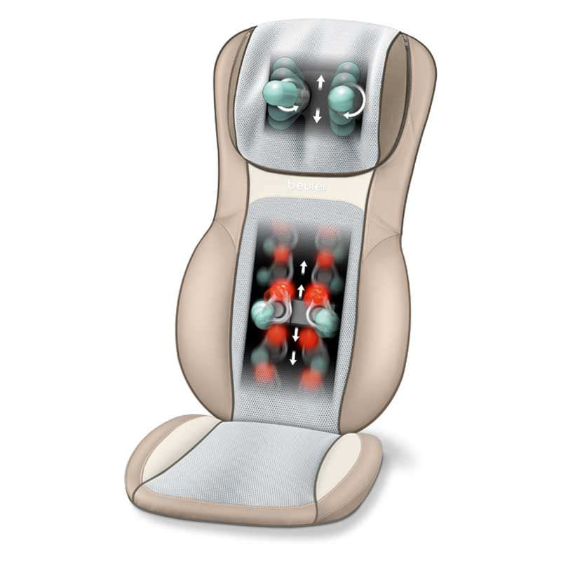Shiatsu massage seat cover MG 295 cream