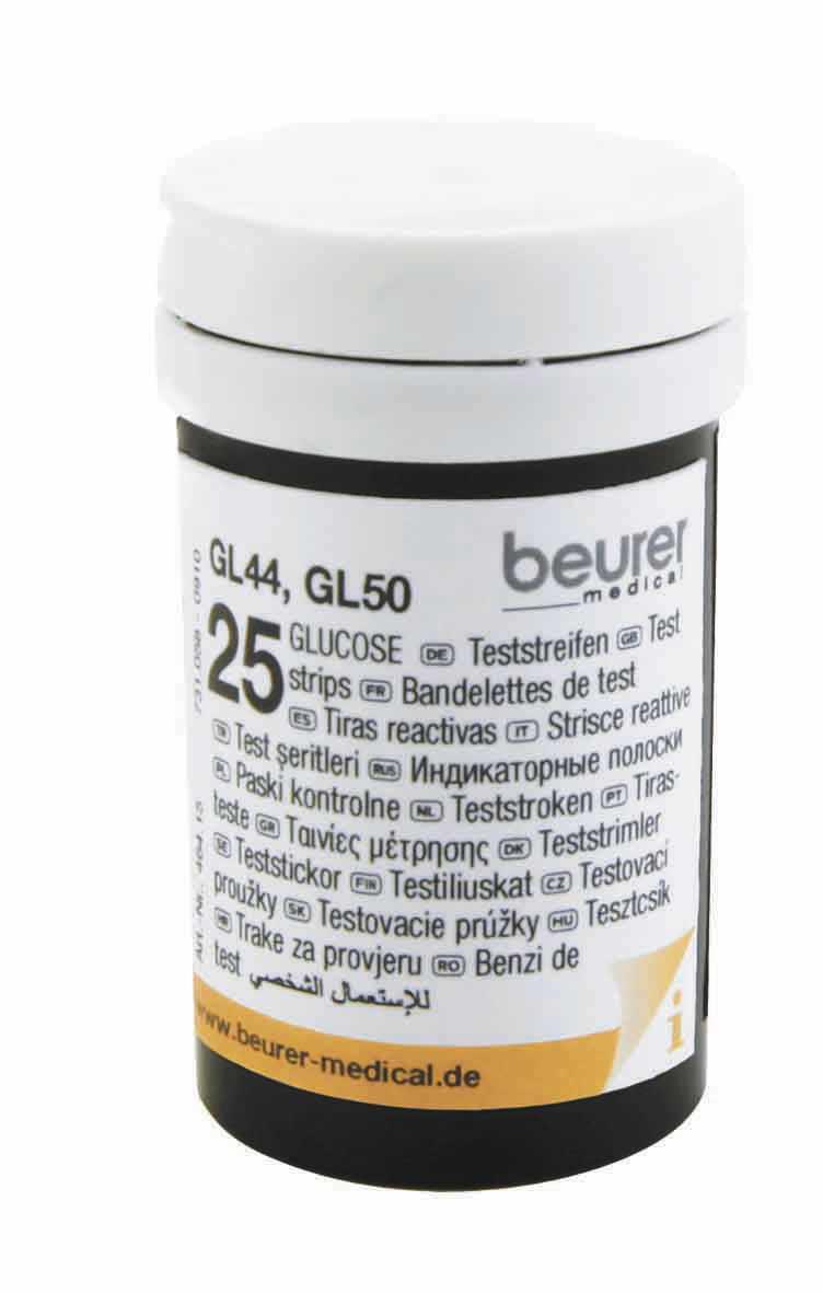 Blood glucose test strip GL 44, GL 50