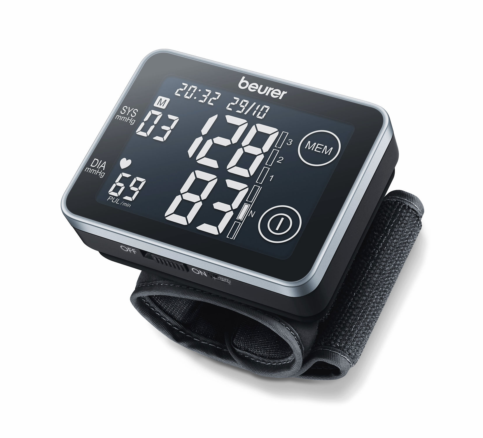 Digital sphygmomanometer / automatic / wrist / with touchscreen BC 58