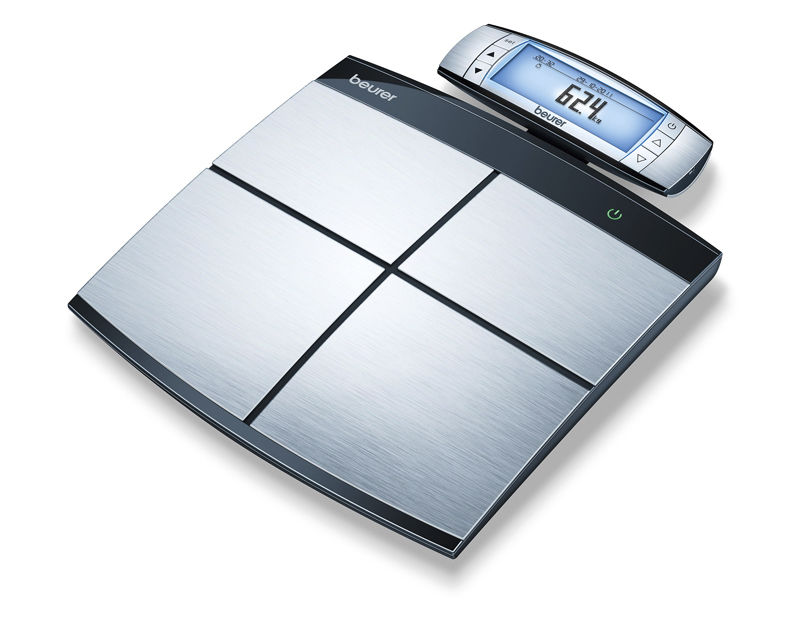 Body composition analyzer with BMI calculation / bio-impedancemetry / with mobile displays 150 kg | BF 100